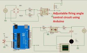 Adjustable firing angle control circuit for thyristor using Arduino
