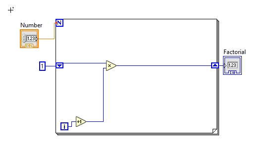 Calculate Factorial Of A Number In Labview   Tutorial 35