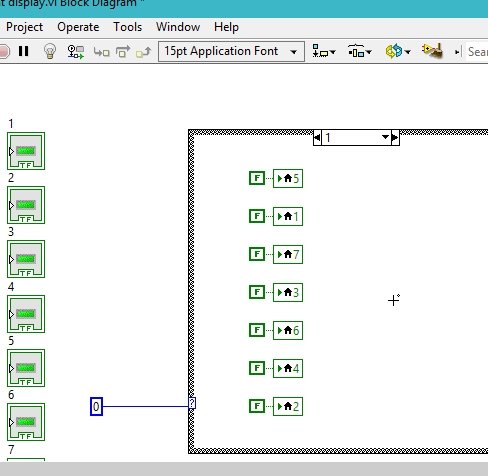 Seven segment display in labview