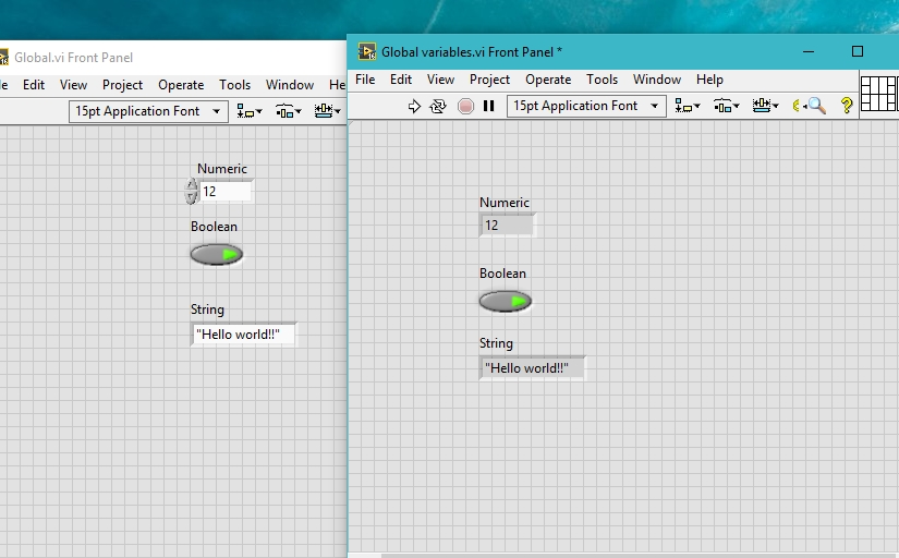 global variables in labview