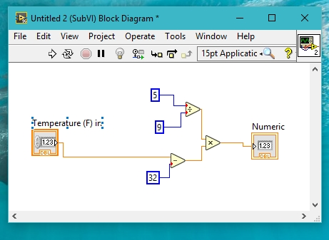 subVI block diagram labview
