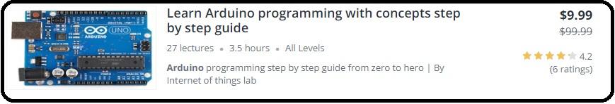 Arduino programming course in c