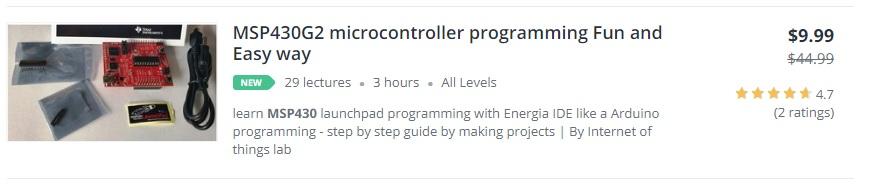 msp430 microcontroller programming