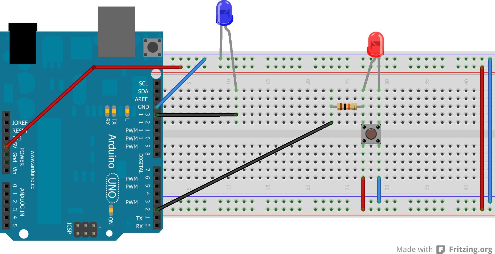 Arduino interrupts example