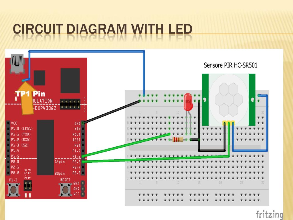 MOTION SENSOR INTERFACING WITH MSP430G2 LaunchPad