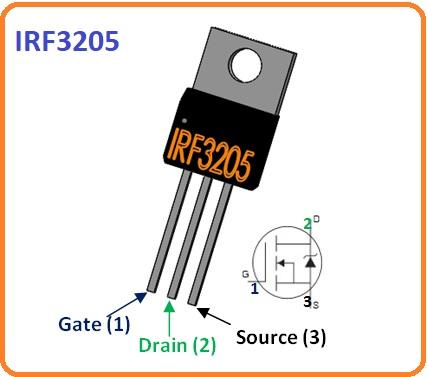 2 IRF2305 pinout