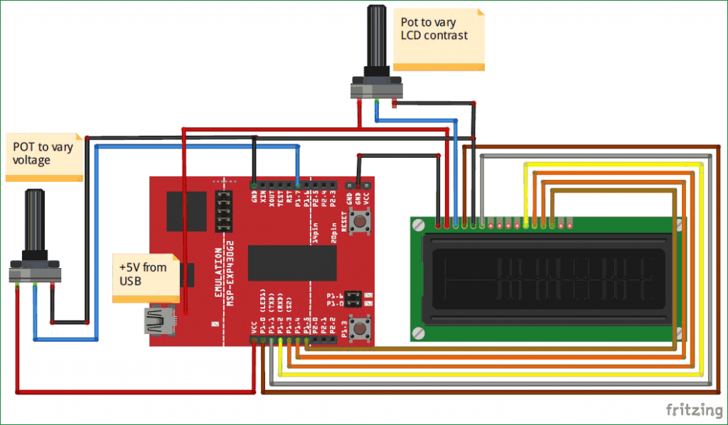 Analog voltage measurement with MSP430 microcontroller