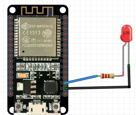 LED fading example ESP32 PWM