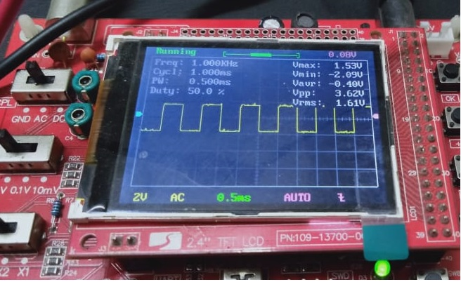 PWM ESP32 with 50% duty cycle