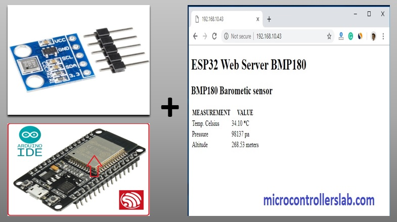 ESP32 BMP180 Web server in Arduino IDE