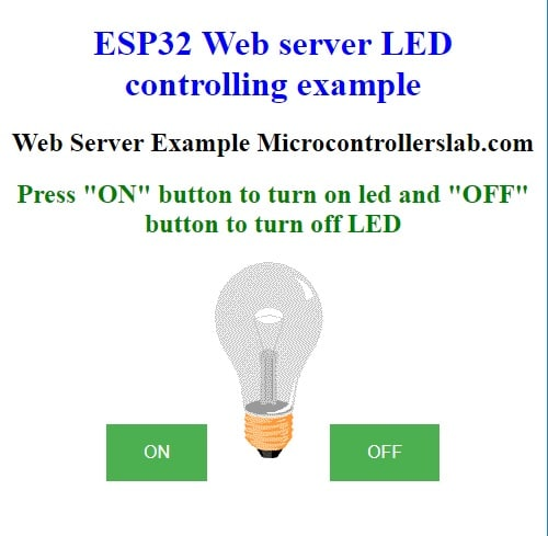 ESP32 LAMP OFF WEB SERVER