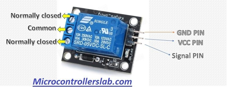 Relay module pinout ESP32