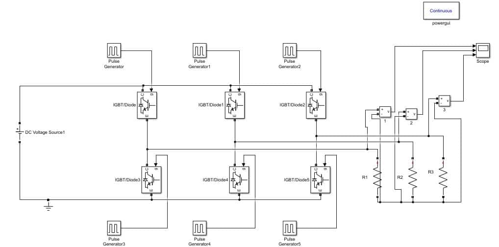Design Three Phase Inverter using Simulink MATLABMicrocontrollers Lab