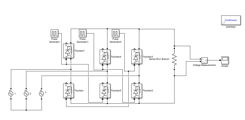 Simulation and design of Three phase Rectifier in Simulink MATLAB