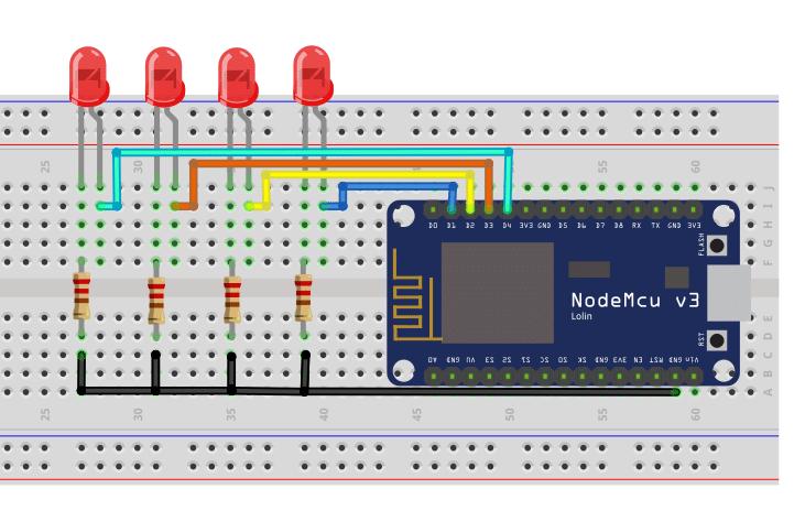 ESP8266 NodeMCU Web Server Circuit