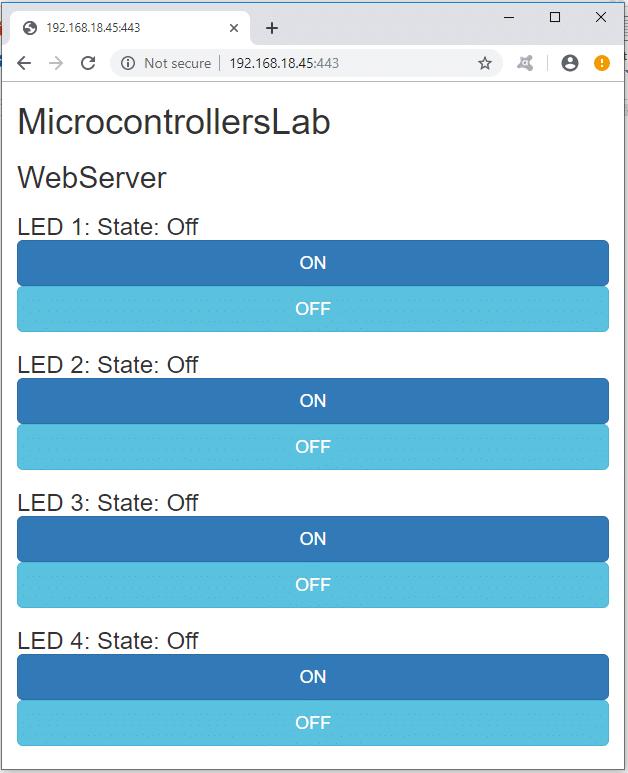 ESP8266 Web page in Arduino IDE