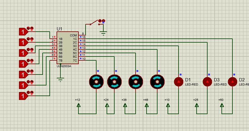 mutiple loads with single ULN 2003