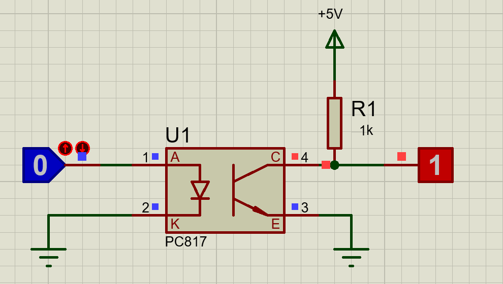 PC817 optocoupler circuit