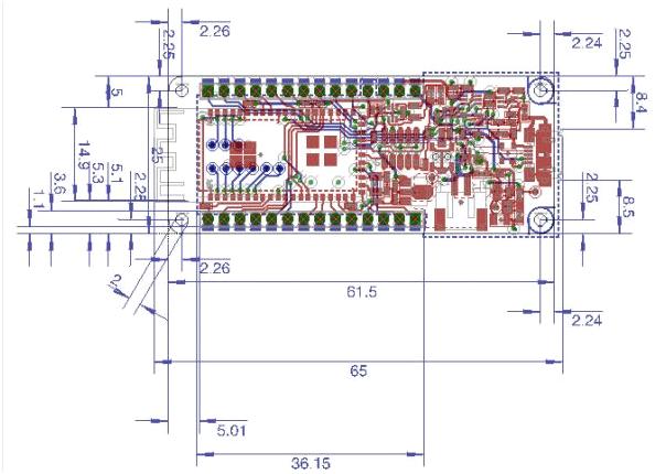 Arduino MKR1000 Wi-Fi Board 2d Diagram