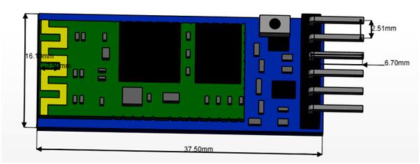Bluetooth Module 2D diagram