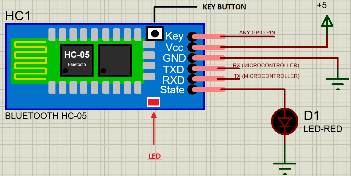 HC-05 Bluetooth Module circuit