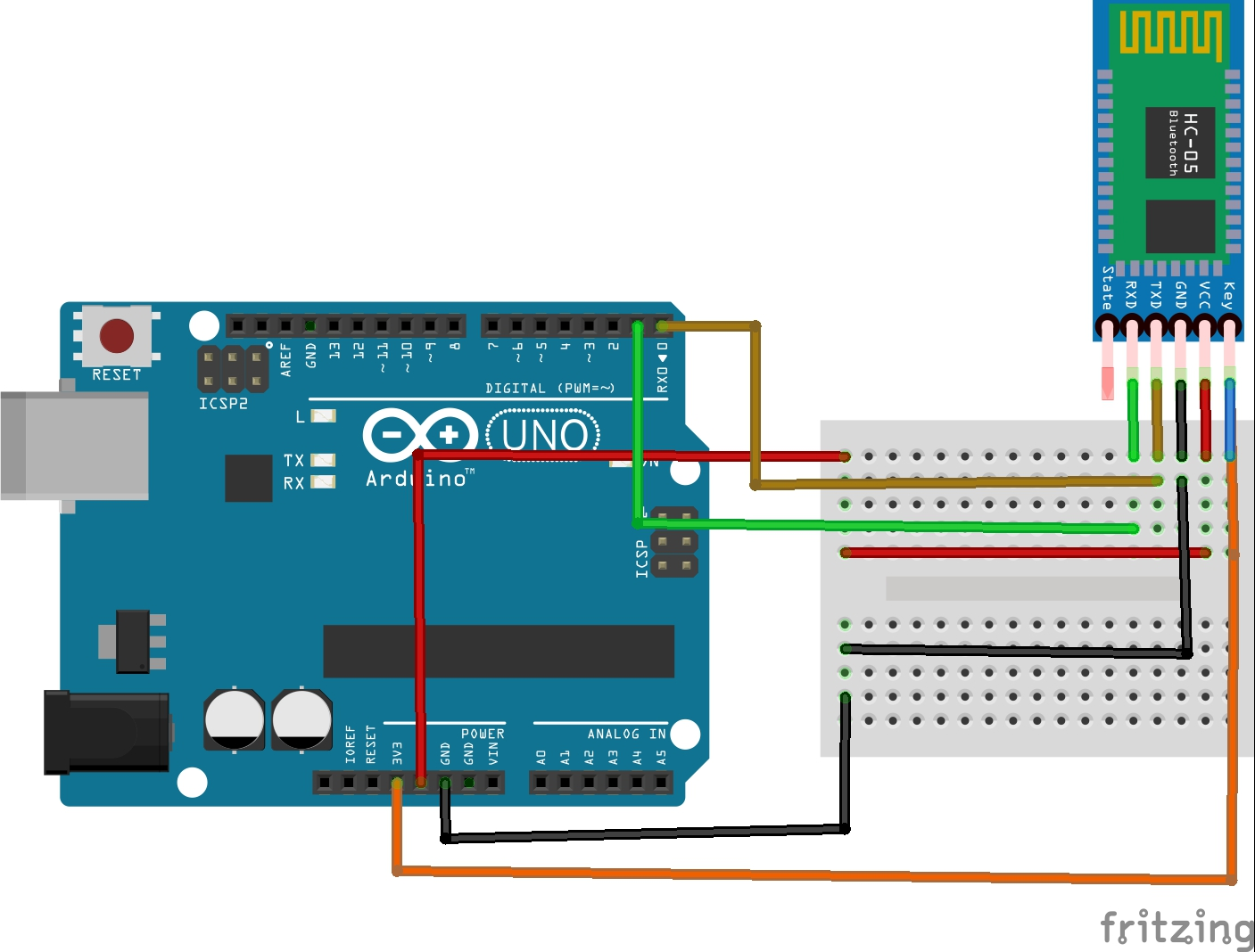 HC-05 Bluetooth Module example interfacing with Arduino Uno