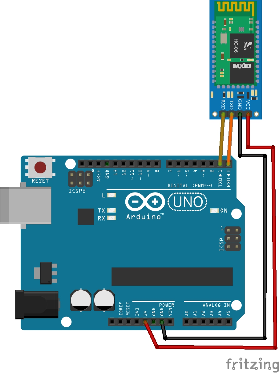 HC06 Bluetooth Module with arduino UNO