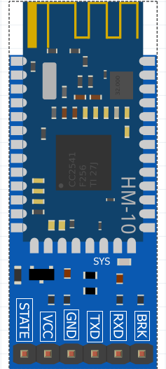 HM 10 Bluetooth module Pinout diagram