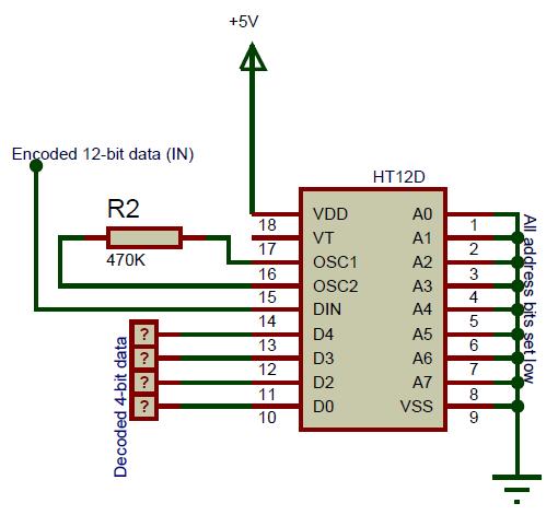 HT12D Circuit