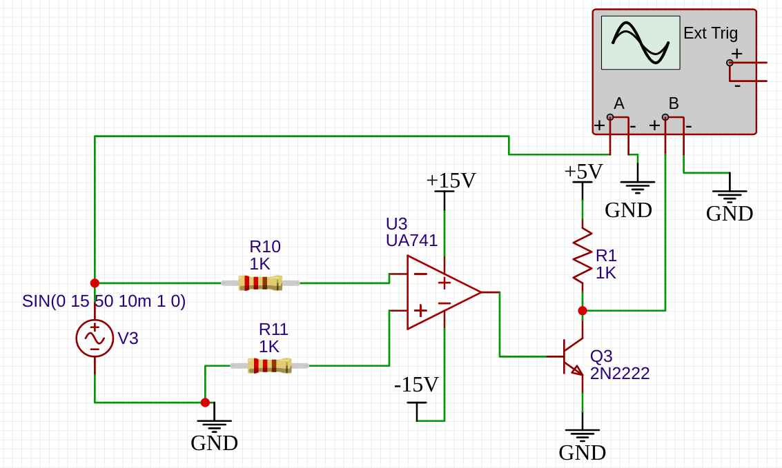 LM741 square wave generator example