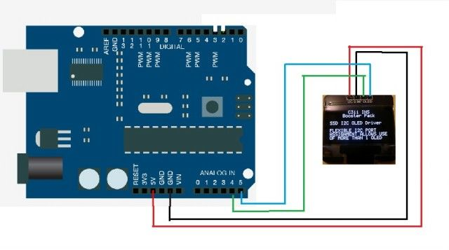 SSD1306 Monochrome 0.96 OLED Display with Arduino