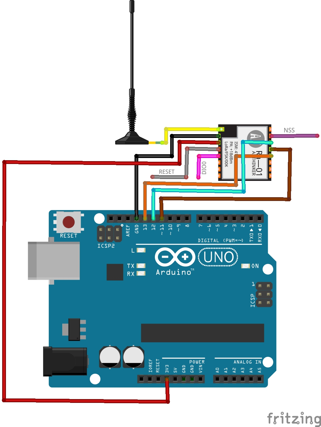 SX1278 Lora RF Module interfacing with ArduinO