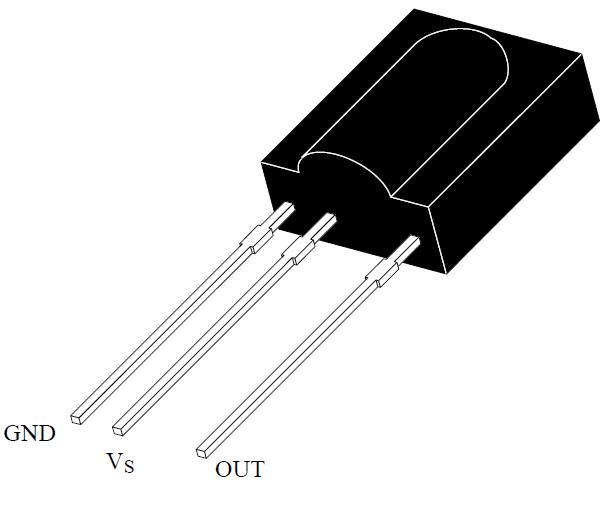 TSOP1738 Pinout diagram Configuration