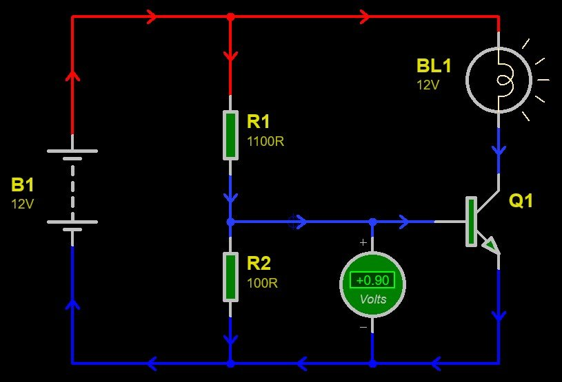 Transistor as a switch example 2