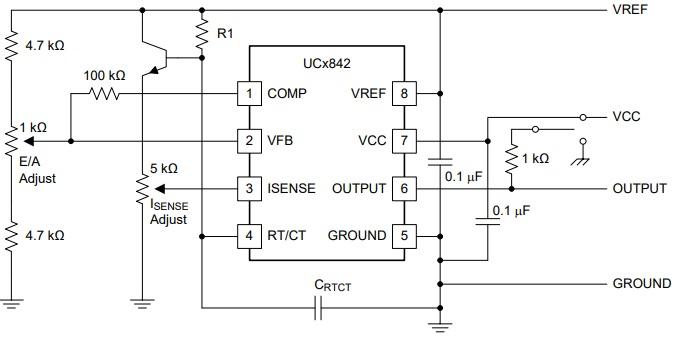 UC2842 Example test cicuit