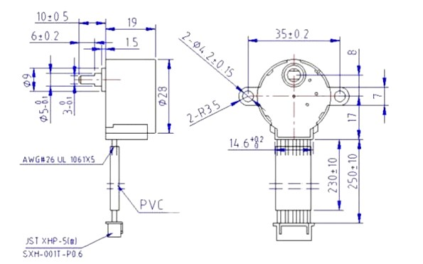 Stepper Motor 2D Diagram