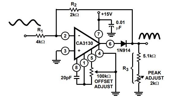 Full wave recitifer Example CA3130