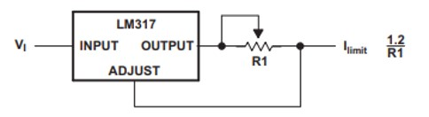 LM317 current limiter circuit example