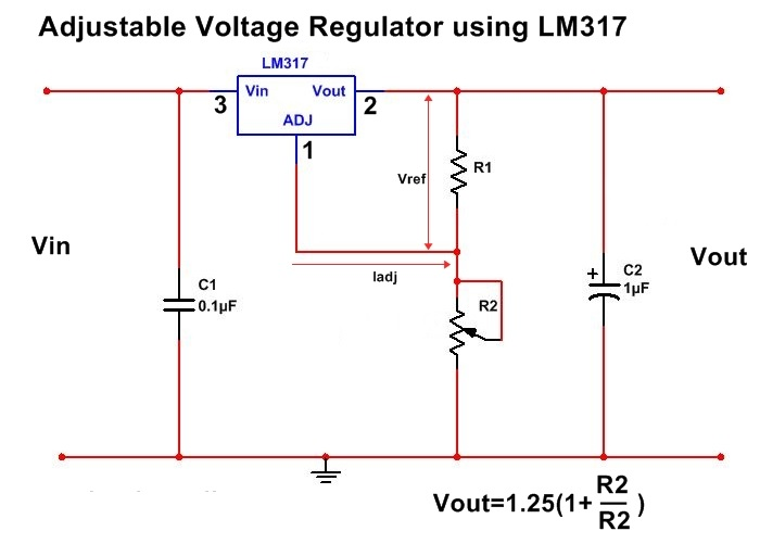 LM317 simple example circuit