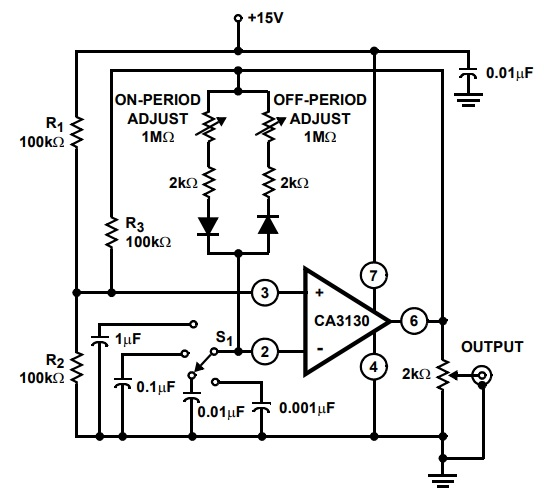 Pulse generator Example CA3130