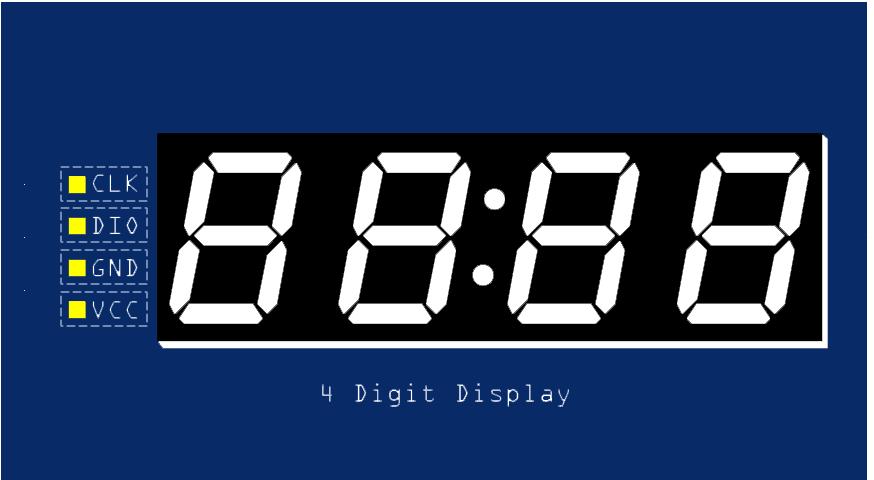 TM1637 Grove 4 Digit Display Module Pinout diagram