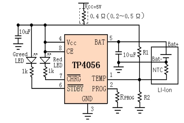 TP4056A Internal Circuit Diagram