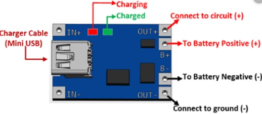 TP4056 Pinout Diagram linear lithium ion battery charging module