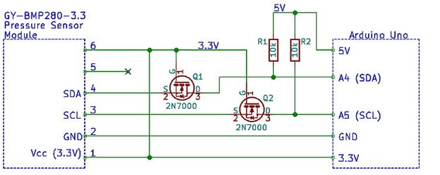 BMP280 interfacing circuit with Arduino