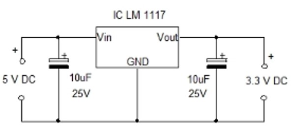 LM1117 5V To 3.3 volts power supply circuit example