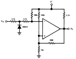 LM339 Zero crossing detector circtuit example