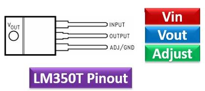 LM350 pinout