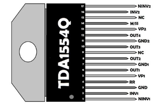 TDA1554 pinout diagram