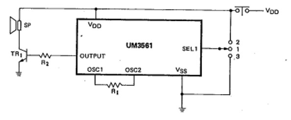UM3561 Three Sound circuit Example