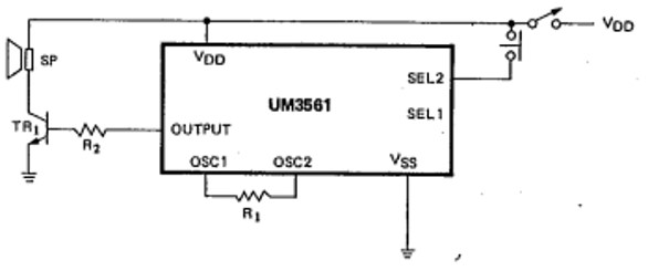UM3561 Two Sound circuit Example